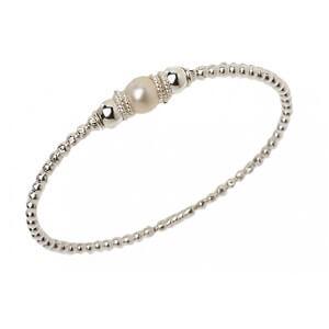 Bracciale in argento e perla