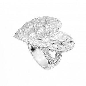 Fiamma - anello in argento naturale