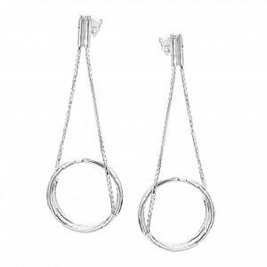 To Be - orecchini in argento naturale